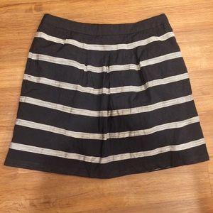 Ann Taylor LOFT Striped Mini Skirt Size 6